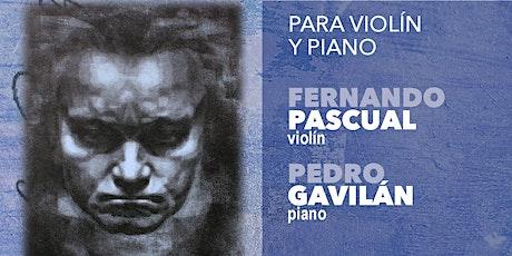 CICLO INTEGRAL SONATAS DE BEETHOVEN III: violín y piano (19 Junio 20:30h) entradas