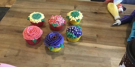 Cupcakes Decorating - 3 Flowers (Sunday, Feb 9th, 11am) tickets