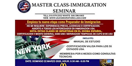 MASTER CLASS  - INMIGRATION SEMINAR entradas