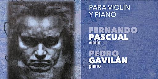CICLO INTEGRAL SONATAS DE BEETHOVEN IV: violin y piano (20 Junio 20:30h)