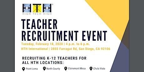 High Tech High's Teacher Recruitment Event tickets