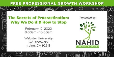 Free Workshop: The Secrets of Procrastination – Why We Do It & How to Stop! tickets