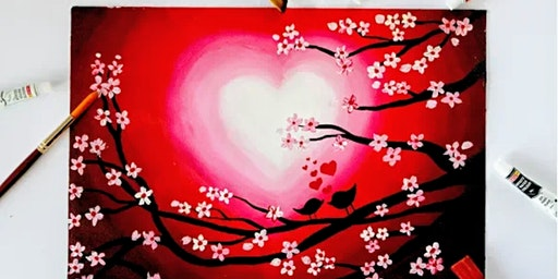 Valentine's Wine, churro and paint with Mingle & Easels at Latin Chicks