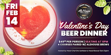 """""""Fall in Love with Beer"""" Valentine's Day Beer Dinner tickets"""