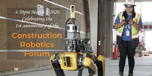 Construction Robotics Forum: 1st Anniversary