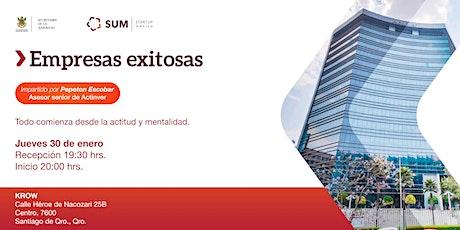 Empresas Exitosas impartida por ACTINVER boletos
