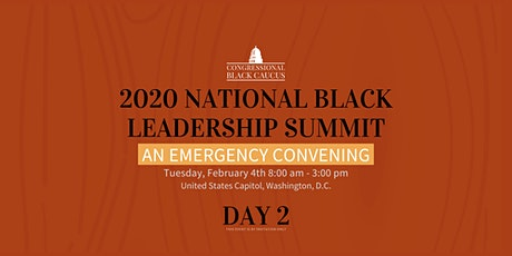 The CBC 2020 National Black Leadership Summit: An Emergency Convening DAY 2 tickets