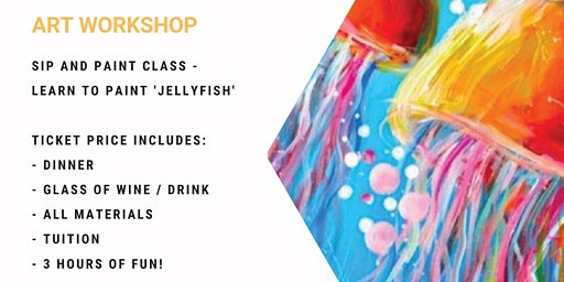 Grab a glass of wine and learn to paint 'Jellyfish