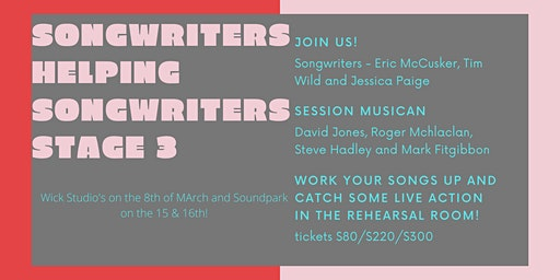 Songwriters Helping Songwriters Stage 3