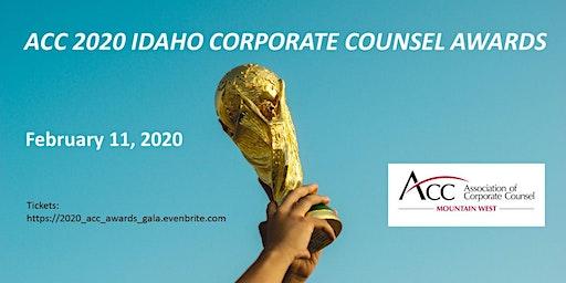 ACC Mountain West, 2020 Idaho Corporate Counsel Awards Gala