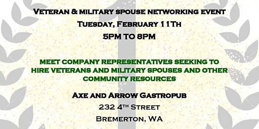 February Military, Veteran, Spouse, and Community Networking Event