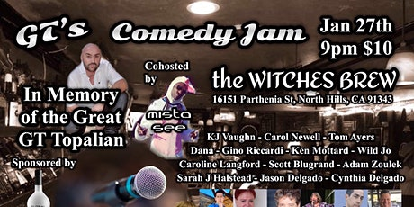 GT's Comedy Jam at Witches Brew tickets
