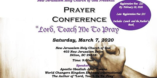 New Jerusalem Holy Church of God Prayer Conference