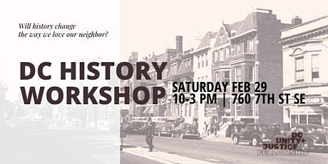 DCUJ Presents: A DC History Workshop (Lunch included) tickets