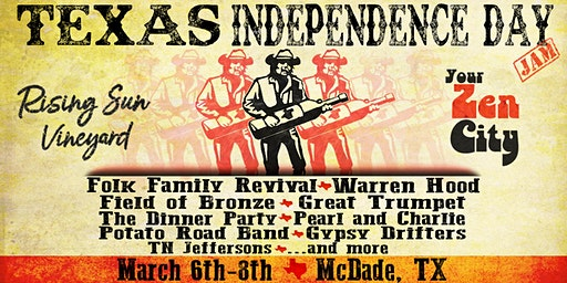 Texas Independence Day Jam and Festival at Rising Sun Vineyard