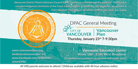 DPAC General Meeting: Vancouver Plan tickets