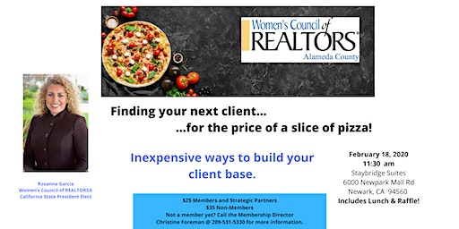 Find your next client for price of a slice of pizza.