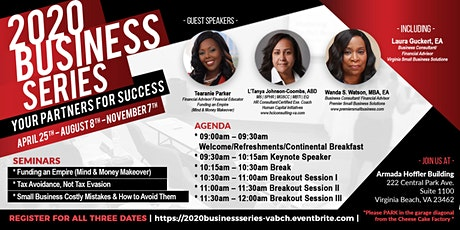 Confirm Today!  2020 VIRTUAL Business Series, 10 AM Saturday, Sept. 26th tickets