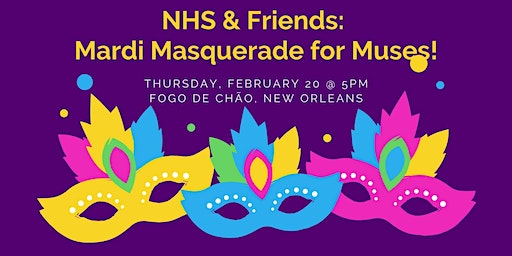 NHS, ChaseMarshall & Friends:  Celebrity Mardi Masquerade for Muses!