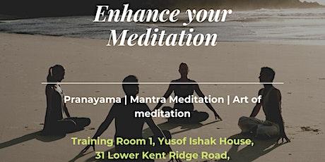 Enhancing meditation: Controlled Speaking (Free Meditation/Dinner) tickets