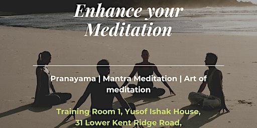 Enhancing meditation: Controlled Speaking (Free Meditation/Dinner)