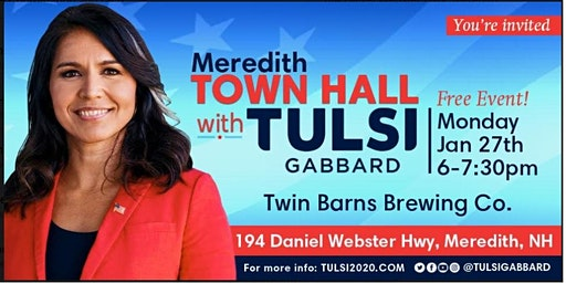Meet Tulsi Gabbard in Meredith, NH
