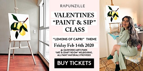 Valentines Day (Couples) - Paint & Sip Class (BYO)  - Lemon's Of Capri Theme tickets