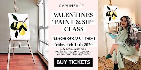 Valentines Day (Couples) - Paint & Sip Class (BYO)  - Lemon's Of Capri Theme tickets