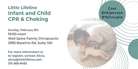 Infant and Child CPR & Choking tickets
