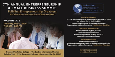 7th Annual Entrepreneurship and Small Business Summit - ESBS 2020 tickets