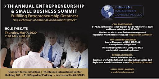 7th Annual Entrepreneurship and Small Business Summit - ESBS 2020