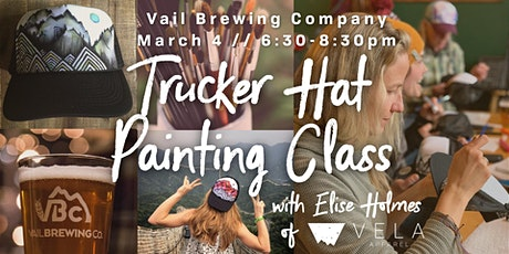 Trucker Hat Painting Class at Vail Brewing Company tickets