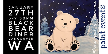 Kids and a Canvas Paint Night - A Beary Cold Night tickets