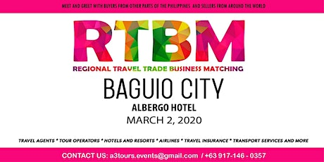 7th RTBM B2B Event for Travel Agents - BAGUIO CITY tickets