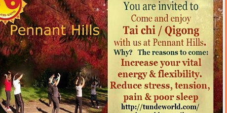 Pennant Hills Tai chi / Qigong group waiting for you on Thursday tickets