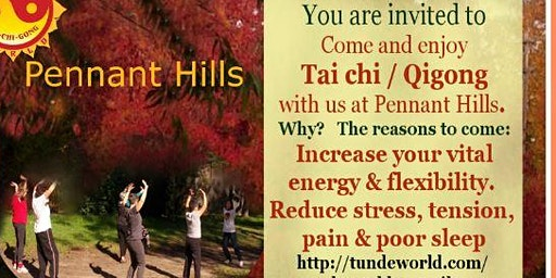 Pennant Hills Tai chi / Qigong group waiting for you on Thursday