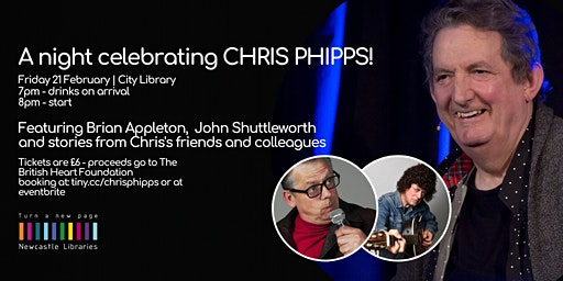 A night celebrating CHRIS PHIPPS (City Library)