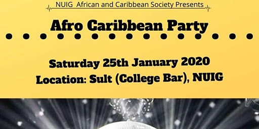 NUIG ACS Afro Caribbean Party
