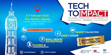 TECH TO IMPACT JAKARTA  - Early Stage (Idea Validation) tickets
