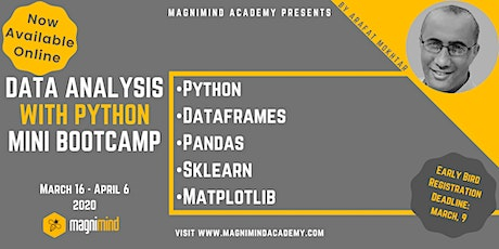 Data Analysis with Python Mini Bootcamp (Available Online) tickets