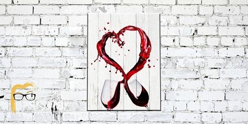 Valentine's Day Wine Painting - Lauren's Art Club