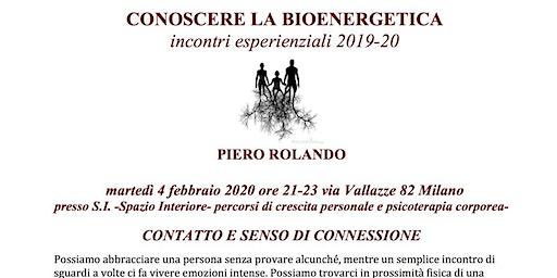Conoscere la Bioenergetica-Contatto e senso di connessione- Piero Rolando