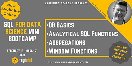 SQL for Data Science Mini Bootcamp (4 days - 12 hours) (Available Online)