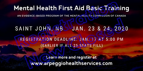 Mental Health First Aid Basic Training - Saint John, NB tickets