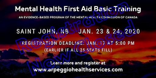 Mental Health First Aid Basic Training - Saint John, NB
