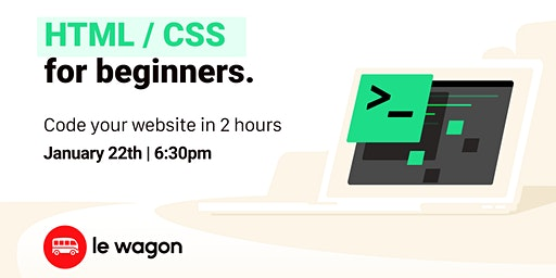 Build a landing page in 2h | Free workshop with Le Wagon Rio Coding Bootcamp