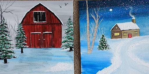 Sip & Paint: Winter Barn Edition