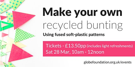 Make your own recycled bunting tickets
