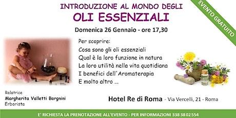 Roma centro - Corso Introduttivo Gratuito sugli Oli Essenziali tickets
