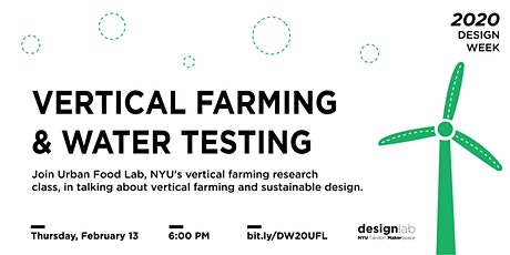 Vertical Farming and Water Testing tickets